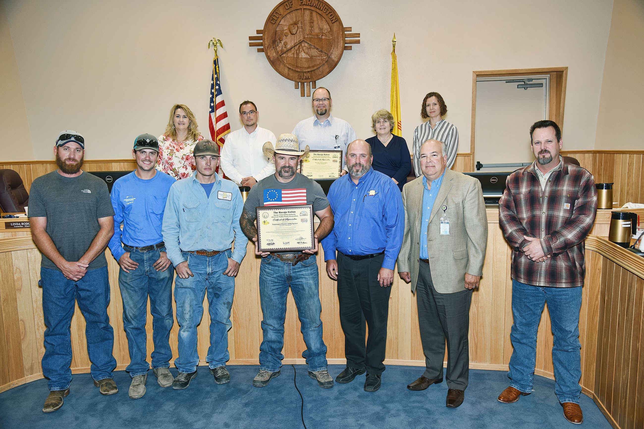 City Council Recognizes Farmington Electric Utility System for participation in Light Up Navajo Nati